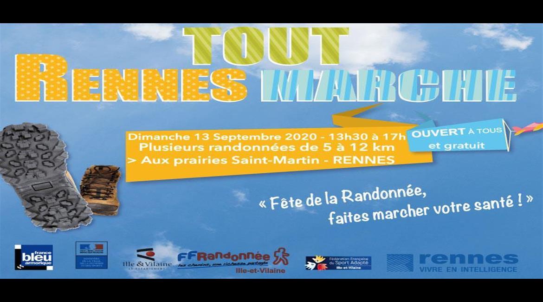Tout Rennes Marche le dimanche 13 Septembre 2020