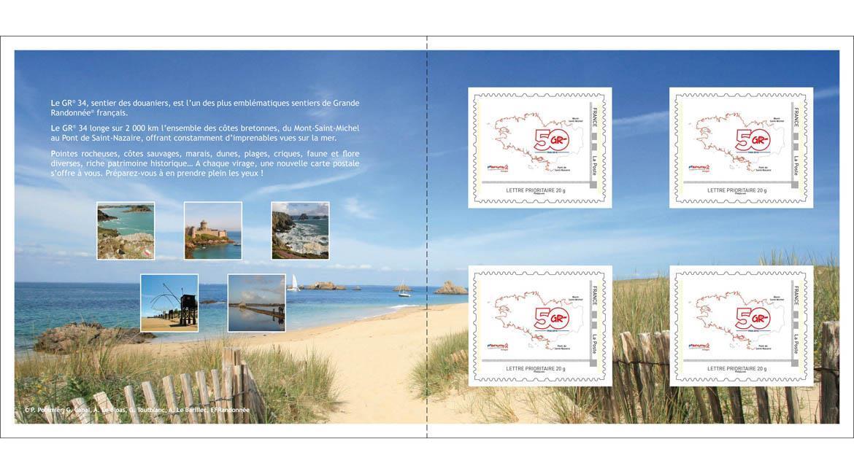 Un timbre à l'effigie du GR® 34